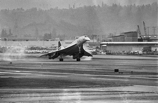 The Concorde delivers the 1984 Nouveau to Seattle.