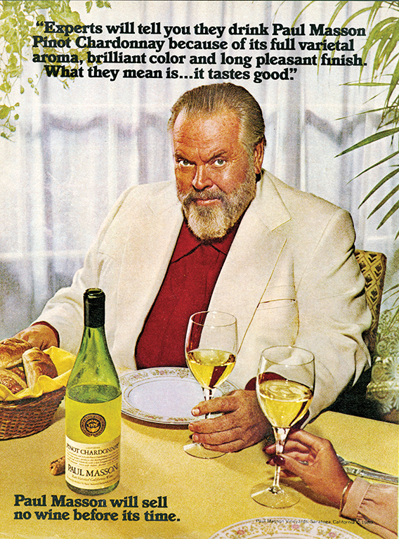An Orson Welles ad for Paul Masson