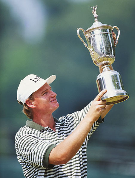 Golfer Ernie Els at the U.S. Open in 1994