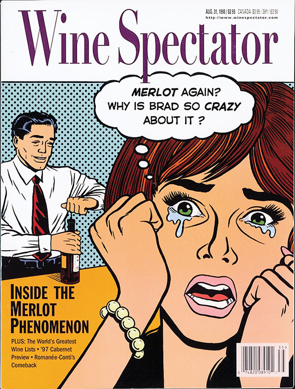 Wine Spectator's Aug. 31, 1998, issue cover