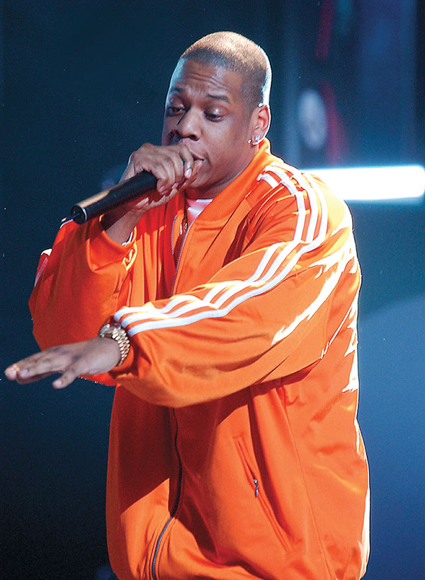 Rapper Jay Z performing in 2002